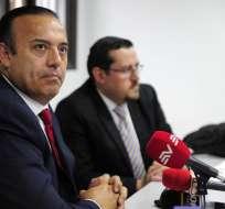 Juan Carlos Machuca y Mauricio Garrido, abogados defensores de Luis Chiriboga. Foto: API