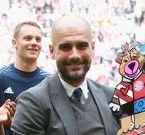 Pep Guardiola le dijo adiós a la Bundesliga alemana con un triunfo del Bayern Munich en el Allianz Arena.
