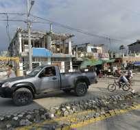 Pedernales, Manabí. El banco también se anunció la condonación de deudas a 42.000 de sus clientes damnificados. Foto: AFP