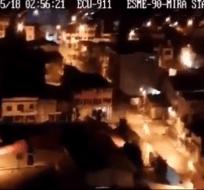 Captura del video difundido por el ECU 911 de Esmeraldas.