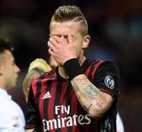 ROMA, Italia.- Juray Kucka se lamenta por el resultado adverso ante la Roma. Foto: EFE.