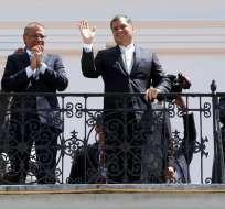 ECUADOR.- Tres encuestadoras dicen que el respaldo al primer mandatario se ubica en menos del 60%. Foto: Archivo