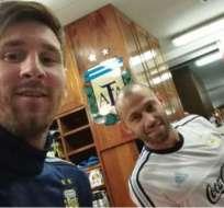 Los jugadores Lionel Messi y Javier Mascherano ya trabajan con el combinado argentino.