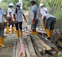 En la primera etapa se construirán 185 viviendas en 10 municipios afectados de Manabí. Foto: @PNUDEcuador