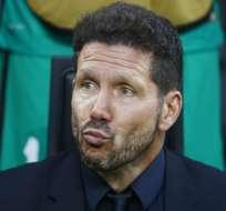 Diego Simeone señaló que es tiempo de pensar, al ser consultado sobre su continuidad con el Atlético.