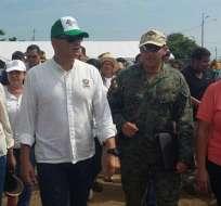 JAMA, Manabí.- El presidente recorre varios albergues de Manabí. Foto: Presidencia de la República
