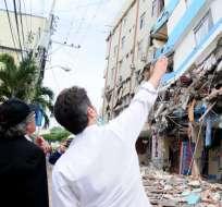 MANTA, Ecuador.- Según la secretaria de Planificación, el monto de la reconstrucción se nutrirá con aportes públicos y privados. Foto: Archivo API