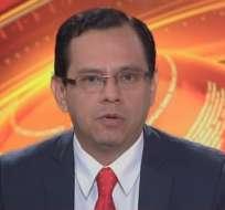 ECUADOR.- Jorge Vera durante su entrevista en Contacto Directo. Foto: Ecuavisa