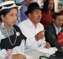 La petición será presentada este jueves en la sede de la Asamblea en Quito. Foto: Conaie