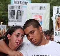 ARGENTINA.- Una de las marchas que realizaron los familiares de María José Coni y Marina Menegazzo en busca de justicia por el asesinato de las jóvenes mendocinas. Foto: Archivo