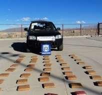 En esta camioneta transportaba la droga José A. junto a su novia. Foto: Cooperativa.cl