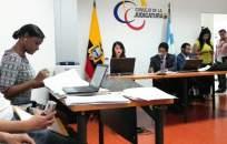 Un momento de la audiencia de formulación de cargos que se realizó en la Unidad Judicial Penal Albán Borja. Foto: Fiscalía General del Estado