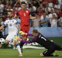 Un empate sin goles consiguieron las selecciones de Inglaterra y Eslovaquia por el Grupo B.