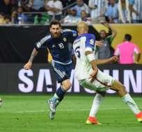 Lionel Messi se convirtió en el máximo goleador de Argentina, con 55 tantos.