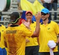El equipo ecuatoriano de Copa Davis se impuso a Barbados en primera ronda de zona americana.