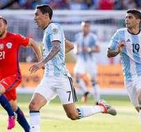 """Ángel Di María arranca como titular en el equipo del """"Tata"""" Martino para la final ante Chile."""