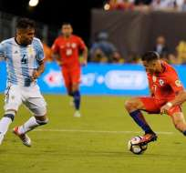 Argentina y Chile empataron sin goles en el tiempo reglamentario por lo que se fueron a los alargues.