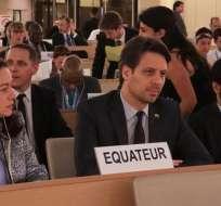 SUIZA.- Ecuador participa en reuniones de la 117 Sesión del Comité de Derechos Humanos de la ONU. Foto: Cancillería