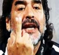 """BUENOS AIRES, Argentina.- """"No jugamos con Chile, le ganamos a Alemania"""", dijo Maradona."""