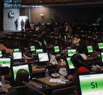 La Asamblea Nacional aprobó las reformas al Cootad con 76 votos. Foto: Asamblea Nacional