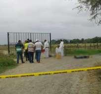 Padre e hijo asesinados en el cantón Daule Foto: Wilmer Cortez