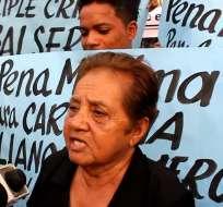 ECUADOR.- Justicia, sólo quiero justicia, Clemencia Avendaño madre de las victimas de caso Quinsaloma. Foto: Archivo