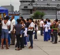 GUAYAQUIL, Ecuador.- La base naval sur abrirá sus puertas al público para mostrar el funcionamiento de embarcaciones insignia de la flota ecuatoriana. Foto: Armada Nacional.