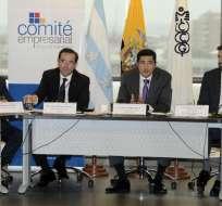 GUAYAQUIL, Ecuador.- El ministro de Comercio Exterior se reúne con el Comité Empresarial Ecuatoriano. Foto: API