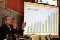 QUITO, Ecuador.- El ministro resalta el proyecto de reformas a la Ley de Seguridad Social de las FF.AA. Foto: API