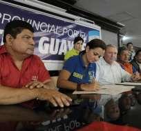GUAYAQUIL, Ecuador.- Según los oficialistas, la propuesta de consulta busca transparentar el quehacer político. Foto: API
