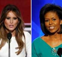 En una parte del discurso, Melania se refirió a aspectos similares de Michelle en 2008. Foto: EFE