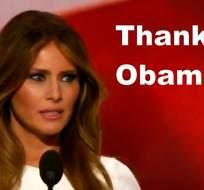 La tercera esposa de Donald Trump ofreció un discurso similar al de Michelle Obama.