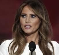 """NUEVA YORK, EE.UU.-Melania Trump le dijo a la cadena MSNBC en febrero que solo """"estudió"""" diseño y arquitectura. Foto: Internet."""