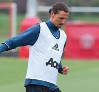 Zlatan Ibrahimovic se sumó esta semana a los entrenamientos del Manchester United.
