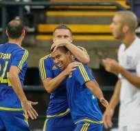 ANDERLECHT, Bélgica.- Noboa festeja su gol. Foto: AFP.