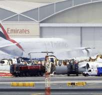La aeronave sufrió un accidente durante el aterrizaje, no hay víctimas mortales. Foto: EFE