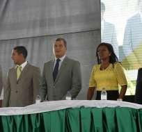 ESMERALDAS, Ecuador.- El mandatario participó en los actos por los 196 años de independencia de Esmeraldas. Foto: El Ciudadano