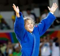Paula Pareto estalló en júbilo cuando fue declarada como ganadora de la final de judo de menos de 48 kilos en Río 2016.