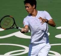El japonés Kei Nishikori superó la primera ronda del tenis olímpico en Río 2016.