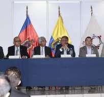 QUITO, Ecuador.- El vicepresidente Jorge Glas participó como testigo de honor en la firma de los convenios. Foto: APi