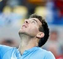 RÍO DE JANEIRO, Brasil.- En la primera ronda Del Potro eliminó a Novak Djokovic. Foto: EFE.