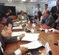 QUITO, Ecuador.- El director del SRI abre el ciclo de comparecencias de la ley económica urgente. Foto: Asamblea Nacional
