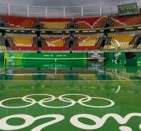 RÍO DE JANEIRO, Brasil.- La lluvia no permite jugar tenis en Río. Foto: EFE.