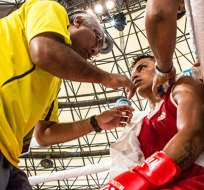 RÍO DE JANEIRO, Brasil.- Quipo dominó el primer asalto y quedó a un paso de la medalla. Foto: ANDES:
