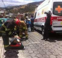 QUITO, Ecuador.- El ECU 911 reporta dos accidentes simultáneos en esta zona del sur de la capital. Foto: Cortesía