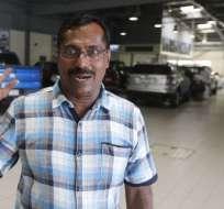 DUBÁI.- Mohammad Basheer Abdul Khadar compró el billete de lotería en el mismo aeropuerto donde estuvo a punto de morir. Foto: AFP
