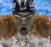 RÍO DE JANEIRO, Brasil.- Phelps se quedó solo con la plata esta vez. Foto: EFE.