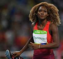 RÍO DE JANEIRO, Brasil.- Marisol Landázuri marcó un tiempo de 11.27 segundos. Foto: AFP.