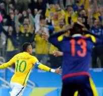 SAO PAULO, Brasil.- Neymar abrió la ruta de la victoria. Foto: EFE.