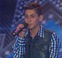 ECUADOR.- El adolescente dejó impresionados a los jurados y fue ovacionado en las audiciones. Foto: Ecuavisa